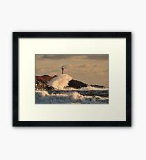 Wave Crashing at Cape Forchu Framed Print