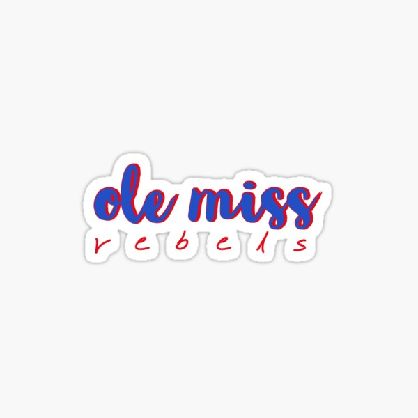 ole miss nickname Sticker