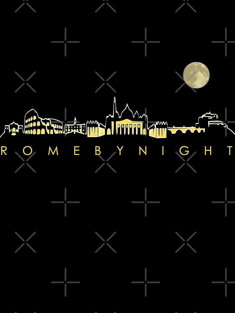 Rome By Night Panorama Roman City Silhouette by thespottydogg
