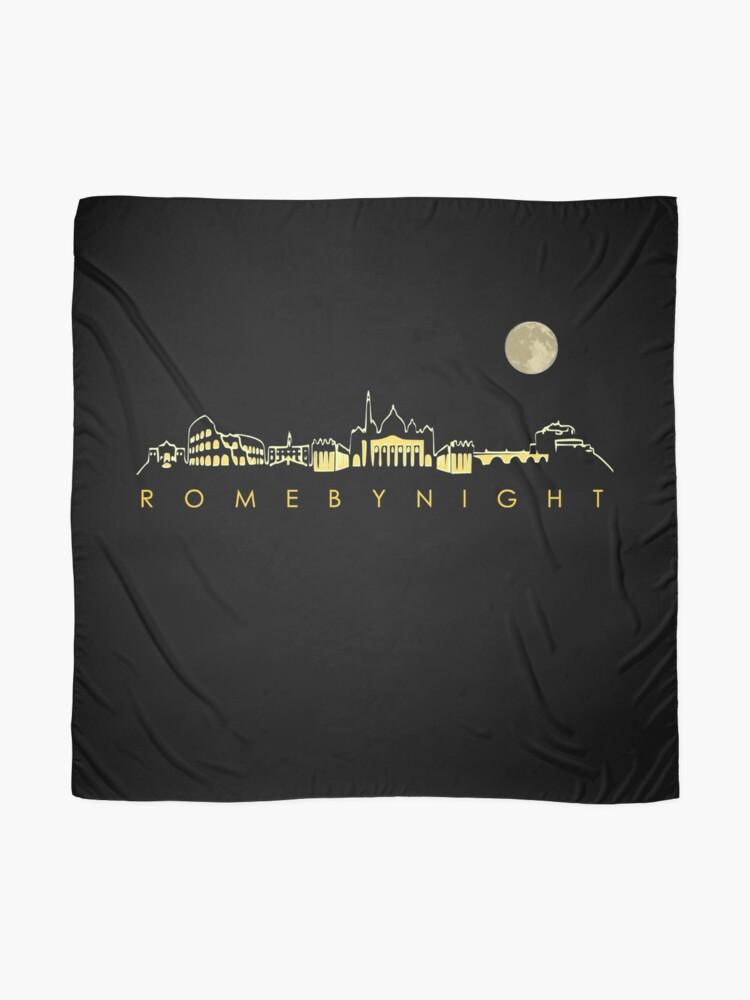 Alternate view of Rome By Night Panorama Roman City Silhouette Scarf