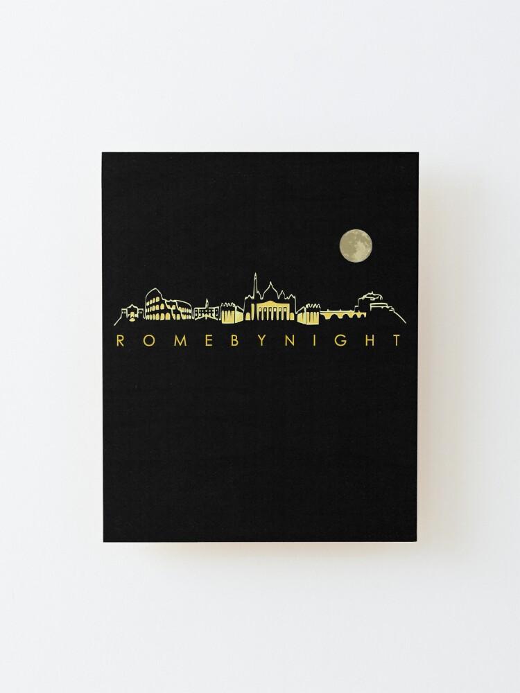 Alternate view of Rome By Night Panorama Roman City Silhouette Mounted Print