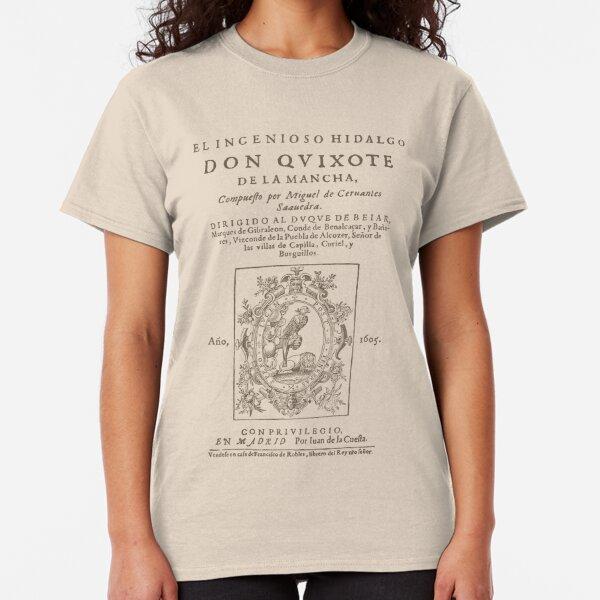 Cervantes, Don Quijote de la Mancha 1605 Camiseta clásica