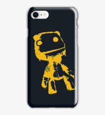 Little Big Planet Sackboy Green and Orange on Black iPhone Case  iPhone Case/Skin