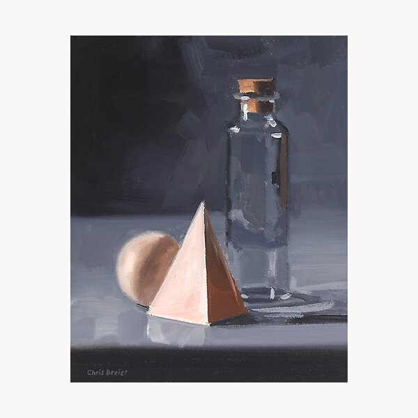Bottle With Wood Blocks Photographic Print
