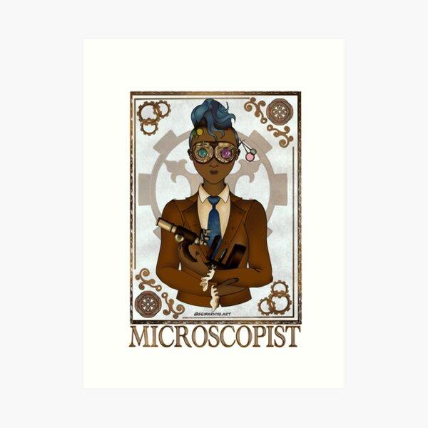 Microscopist (SteamPunk Art) Art Print