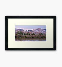 Split Mountain Twilight Framed Print