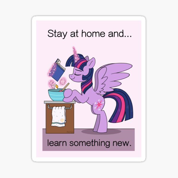 Stay at Home - Twilight Sparkle Sticker