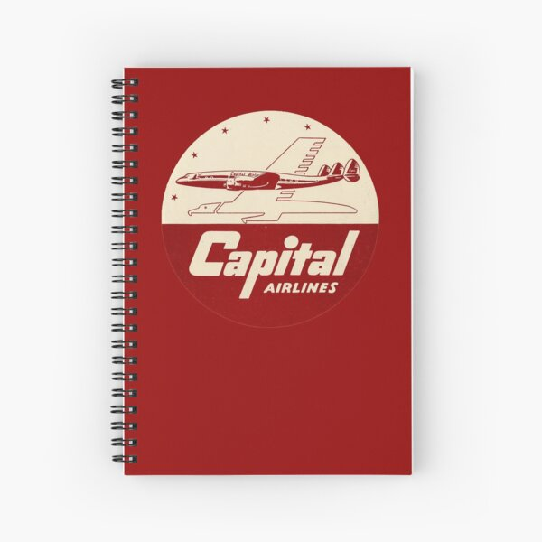Capital Airlines Spiral Notebook