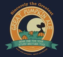 It's the Great Pumpkin Ale Charlie Brown