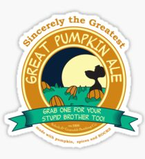 It's the Great Pumpkin Ale Charlie Brown Sticker