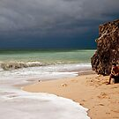 Waiting for the storm on Dreamland Beach, Bali by Kristi Robertson