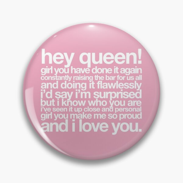 Michelle Obama Hey Queen Pin