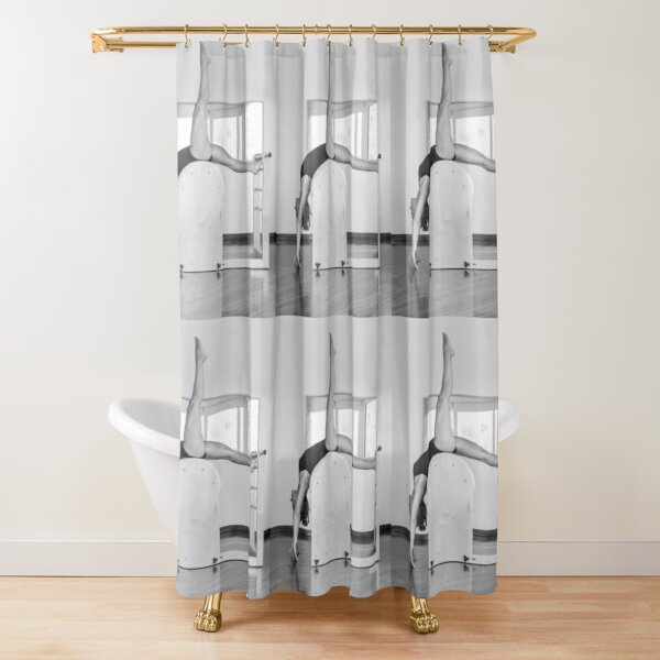Pure Pilates with your teacher Ivana. Look great in Ibiza Shower Curtain