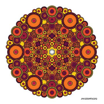 Mandala 37 Coloured v1.0 Prints, Cards & Posters by mandala-jim