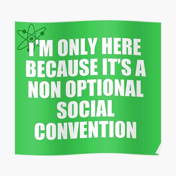convención social no opcional Póster