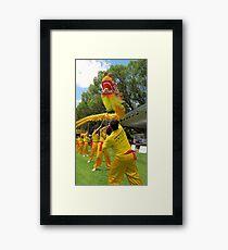 gold dragon Framed Print