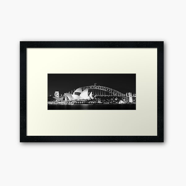 Sydney Harbour and Opera House Framed Art Print