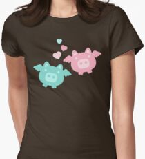Pastel Flying Pigs in Love T-Shirt
