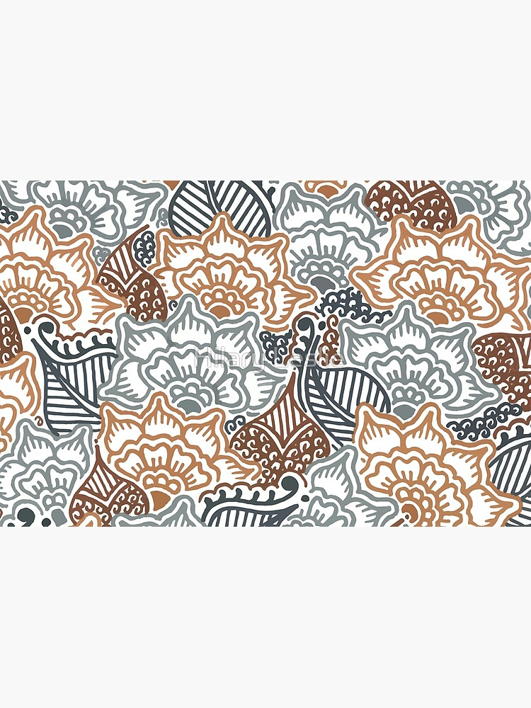Grey and Brown Garden || Nature || Botanical || Henna || Pattern by hennabyhilary