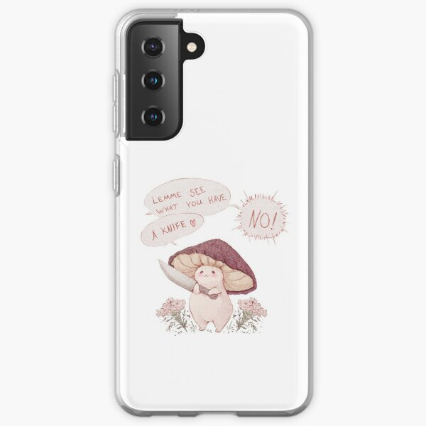 Let me see what you have little Mushroom - text  Samsung Galaxy Soft Case