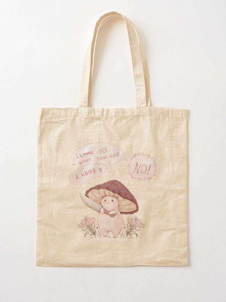 Alternate view of Let me see what you have little Mushroom - text  Tote Bag