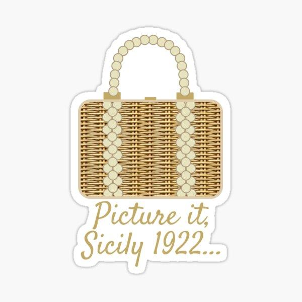Sophia's Wicker Purse Sticker