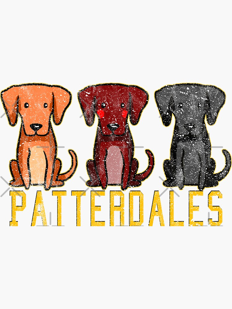 Black Brown Tan Patterdale Terrier Dogs Funny Faded Vintage  by thespottydogg