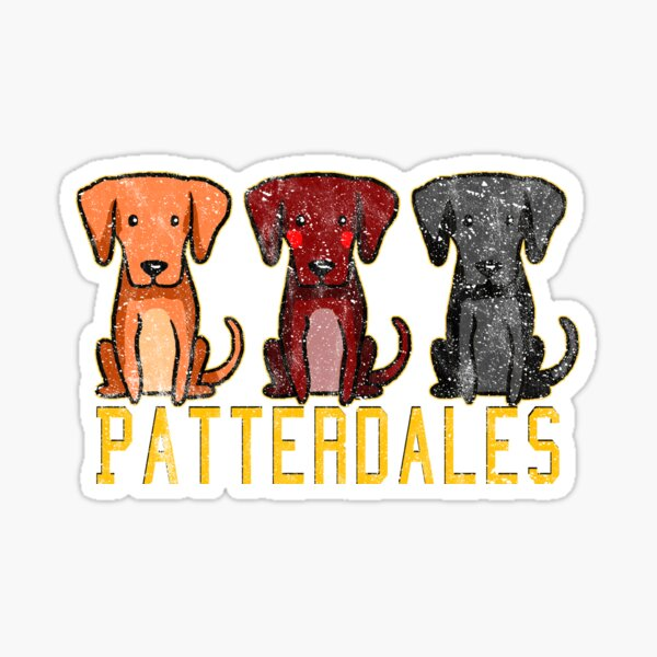 Black Brown Tan Patterdale Terrier Dogs Funny Faded Vintage  Sticker