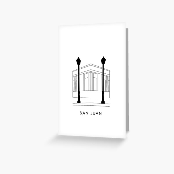 San Juan Illustration Greeting Card