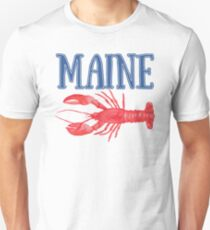 Maine Watercolor Lobster - Maine Lobster Unisex T-Shirt