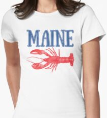 Maine Watercolor Lobster - Maine Lobster Women's Fitted T-Shirt