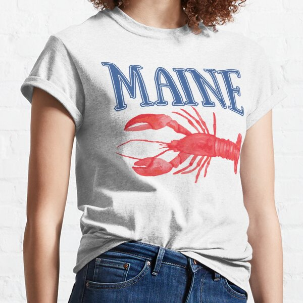 Maine Watercolor Lobster - Maine Lobster Classic T-Shirt
