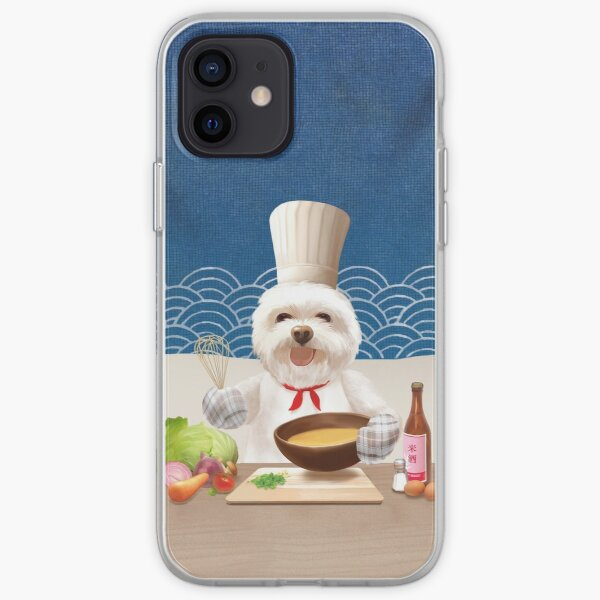 Chef Dog Cooks Soup for Friends iPhone Soft Case