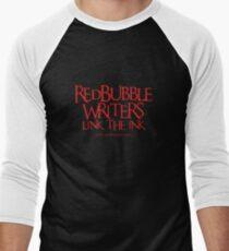 RB Writers shirt (red text) Men's Baseball ¾ T-Shirt