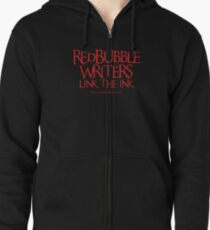 RB Writers shirt (red text) Zipped Hoodie