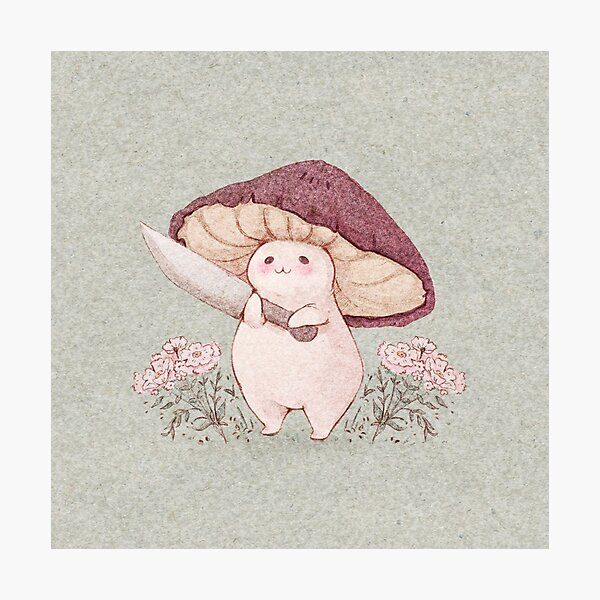 Let me see what you have little Mushroom (no text) Photographic Print