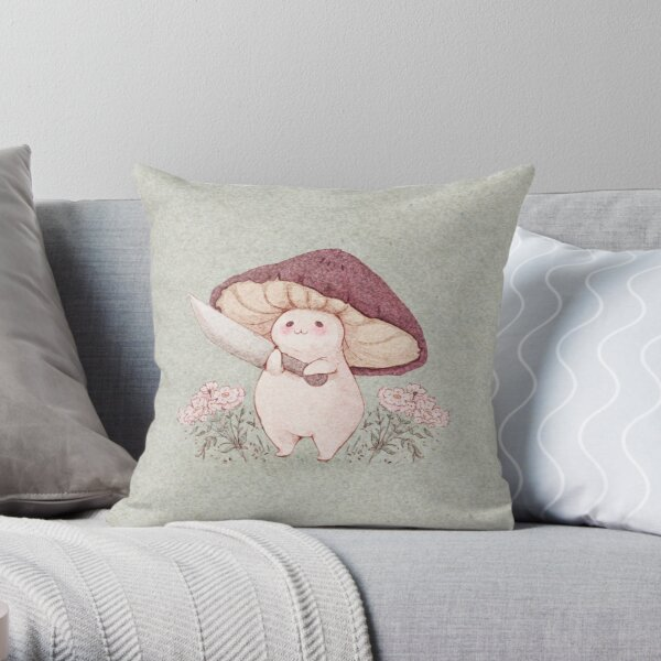 Let me see what you have little Mushroom (no text) Throw Pillow