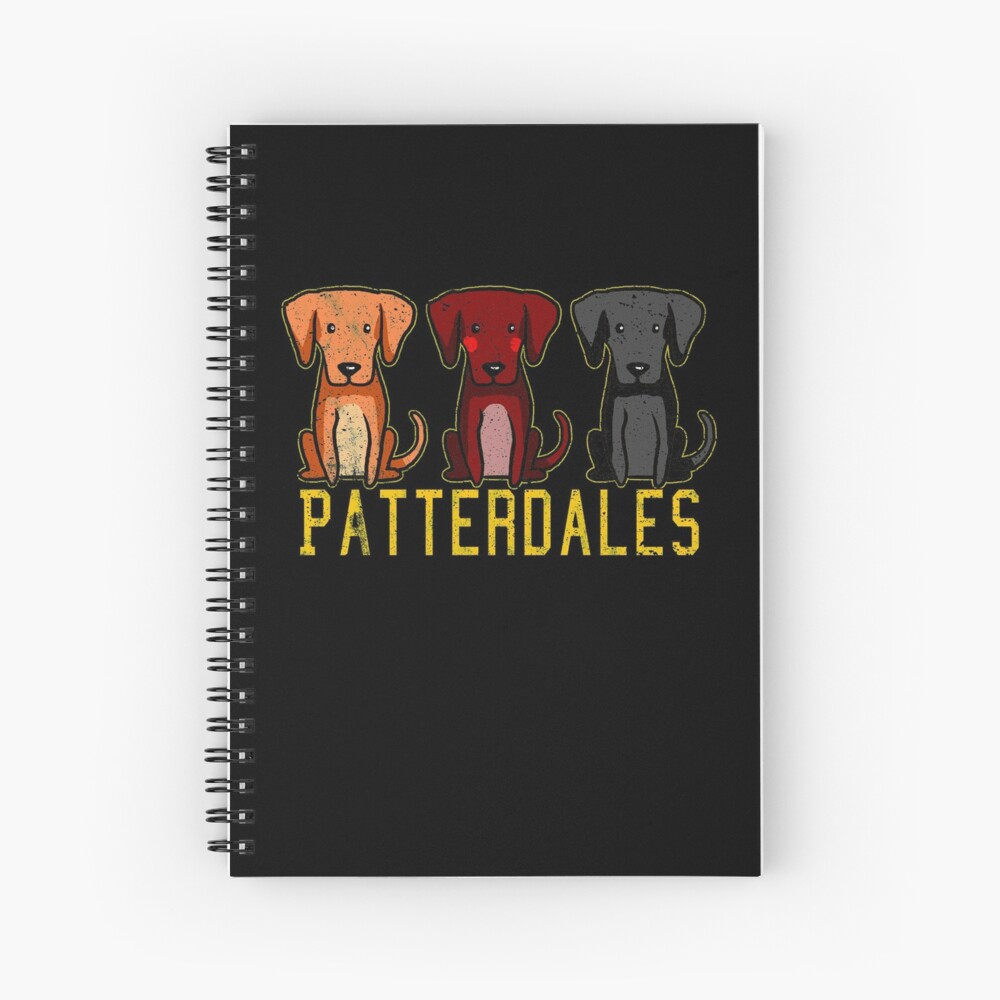 Black Brown Tan Patterdale Terrier Dogs Funny Faded Vintage  Spiral Notebook