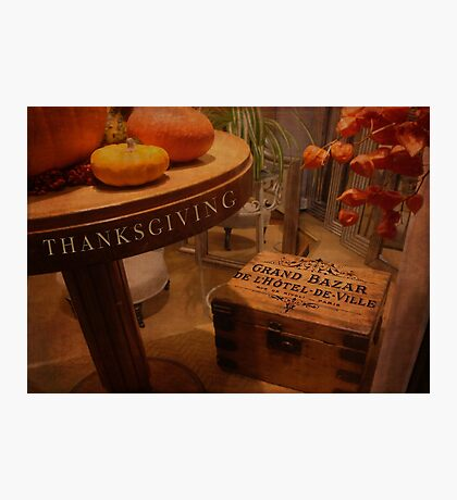Thanksgiving Hideaway Photographic Print