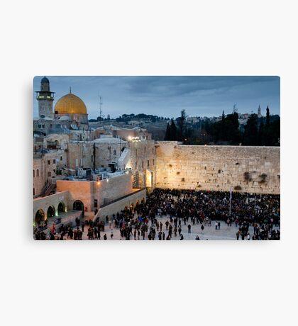 Sabbath at the Wailing Wall, Jerusalem Canvas Print