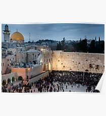 Sabbath at the Wailing Wall, Jerusalem Poster