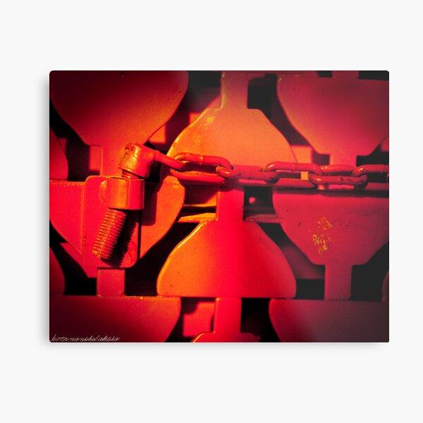 Prisoner in Red Metal Print