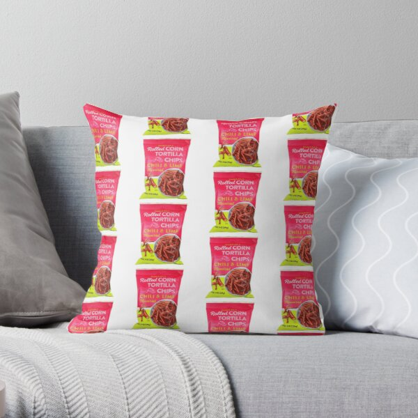 TJ's chili lime chips Throw Pillow