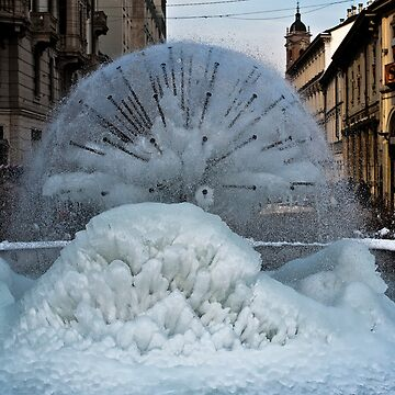 Iced Fountain in Monza by muratodentro