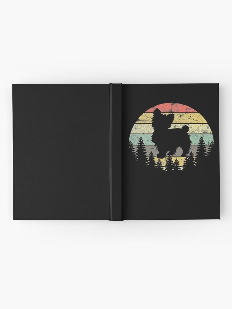 Alternate view of Yorkshire Terrier Yorkie Dog Sunset Vintage Retro Yorkie Hardcover Journal