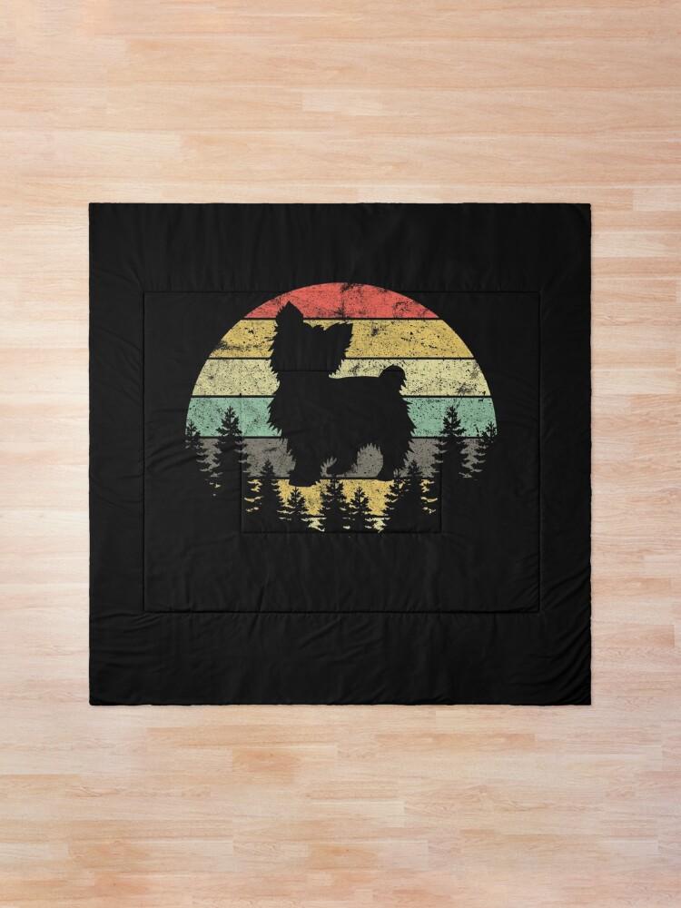 Alternate view of Yorkshire Terrier Yorkie Dog Sunset Vintage Retro Yorkie Comforter