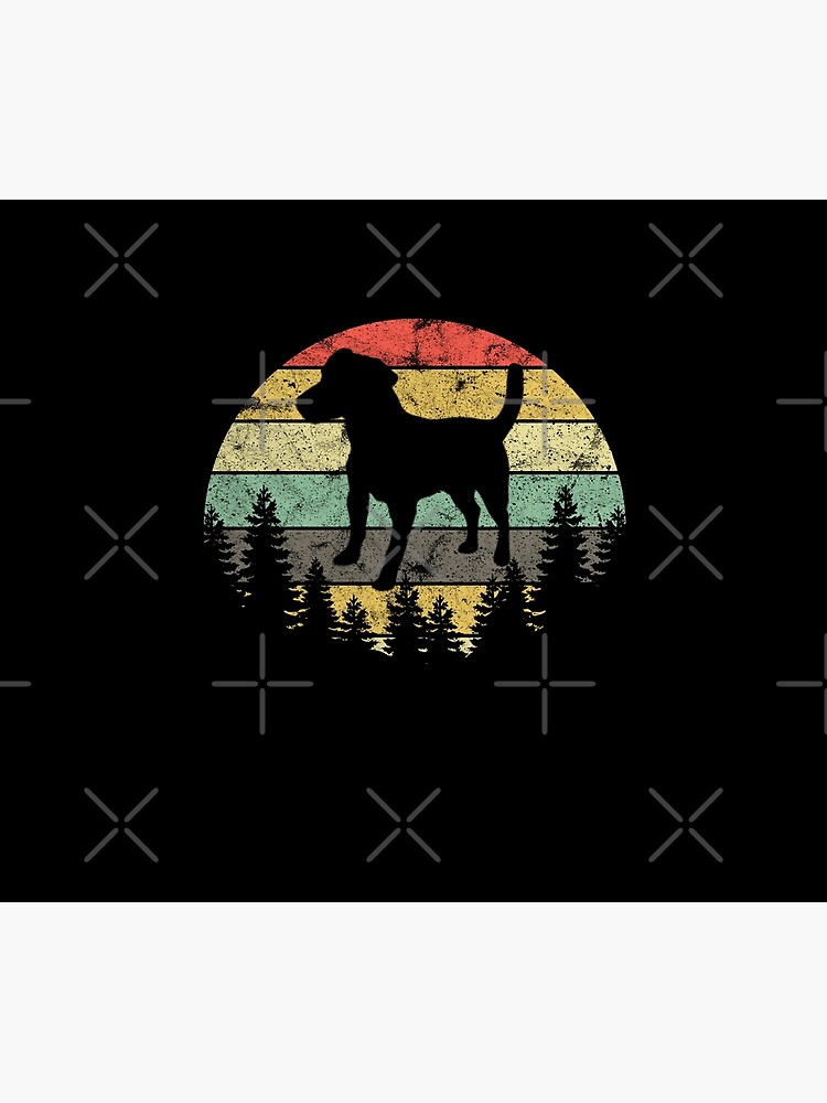 Patterdale Terrier Dog Retro Sun Forest Patterdale Puppy by thespottydogg