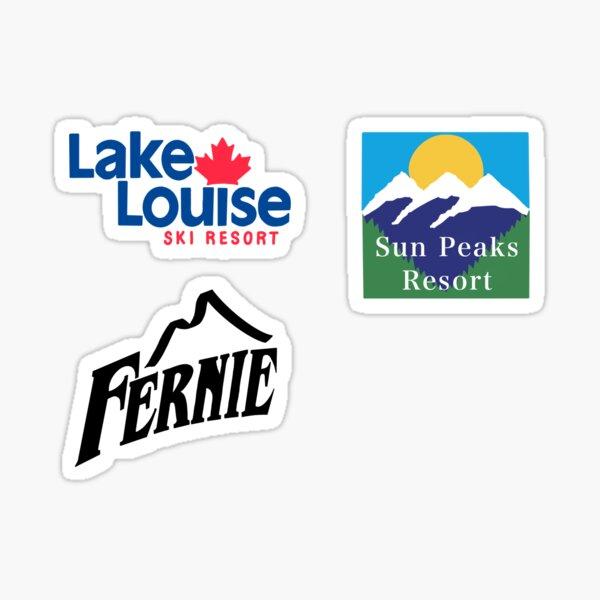 Lake Louise, Sun Peaks, Fernie Sticker