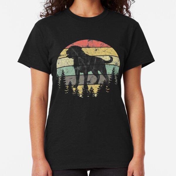 Rottweiler Dog Sunset Vintage Retro Rottweiler Silhouette Classic T-Shirt