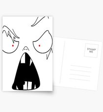 angry face  Postcards